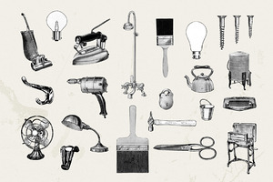 21 Vintage Household Illustrations