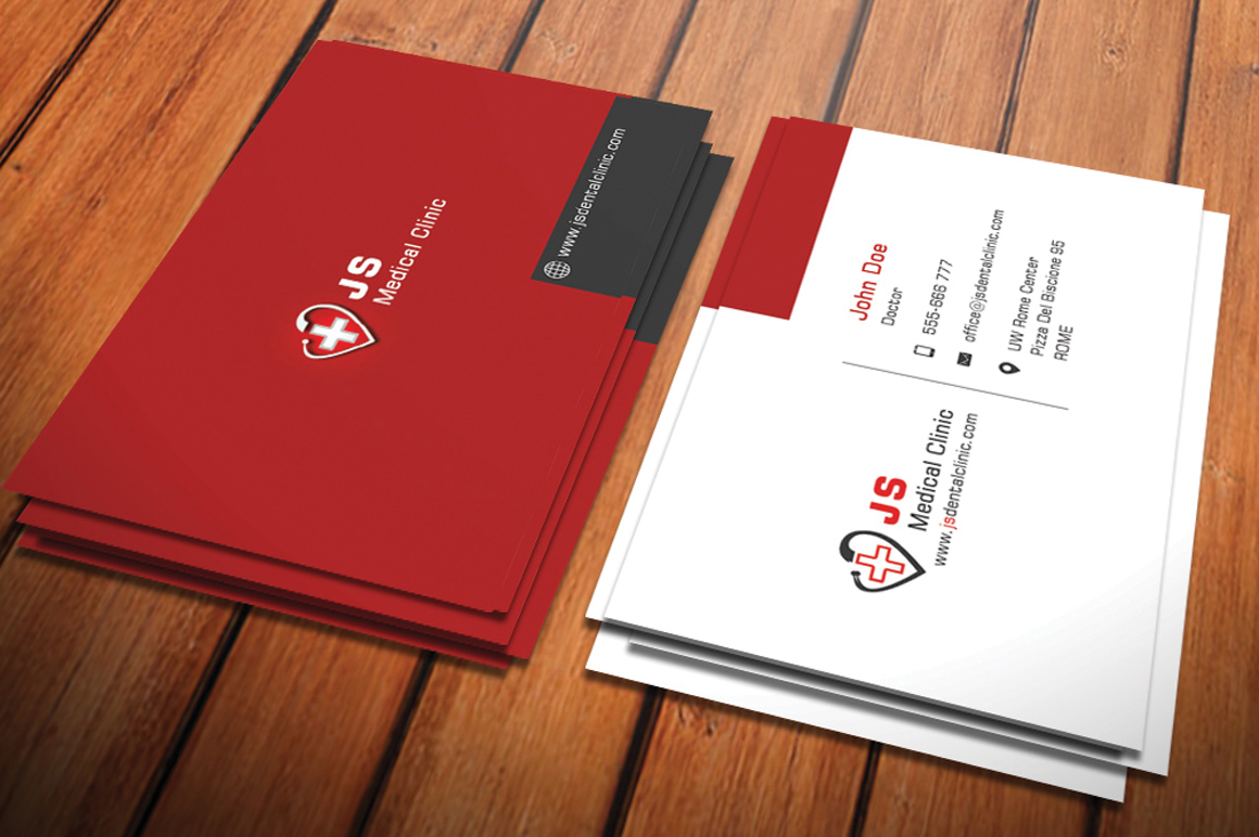 red cross another clean modern image that can be changed to meet your design scheme for colors specialty and even languages other than english - Medical Business Cards