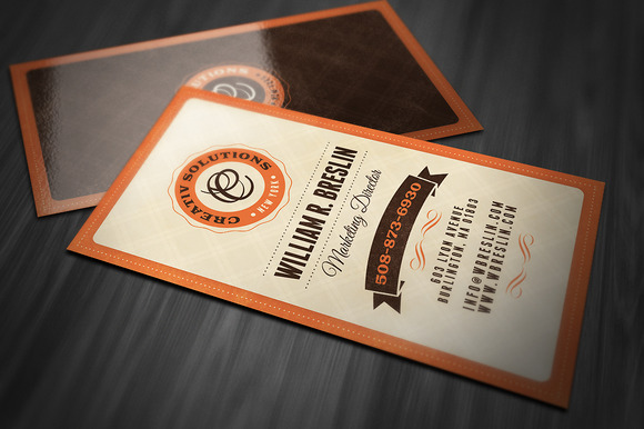 Retro Business Card Business Card Templates on Creative