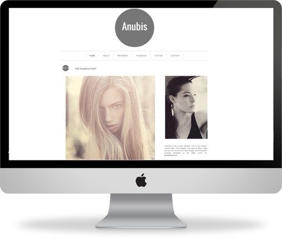 Anubis Blogger Template