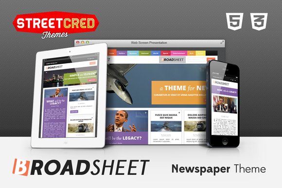 Broadsheet Newspaper Theme