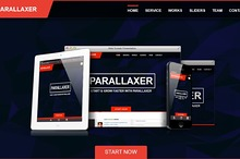 Parallaxer new one page Bootstrap