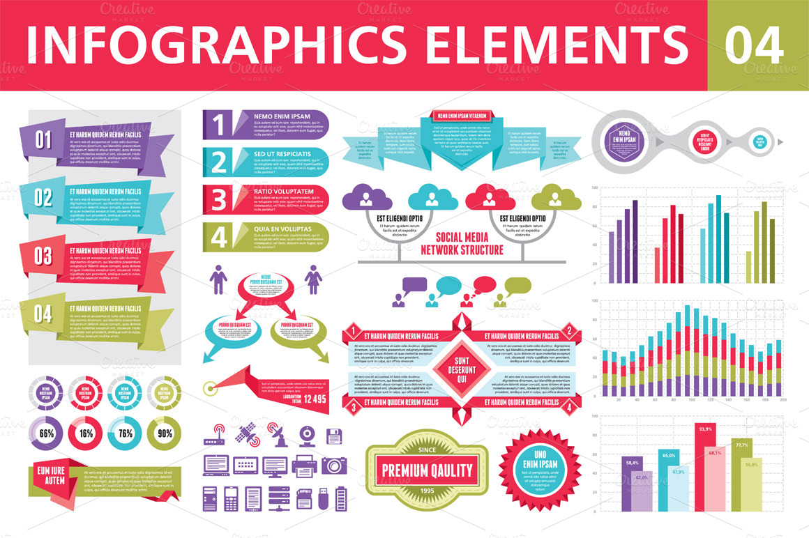 infographic template powerpoint free - infographics elements 04 presentation templates on