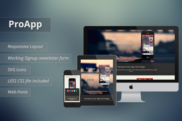 ProApp Responsive Landing Page