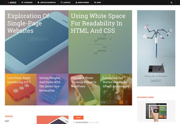 DW Argo WordPress Off-Canvas Theme