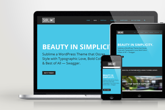 WP Sublime Responsive Creative Theme