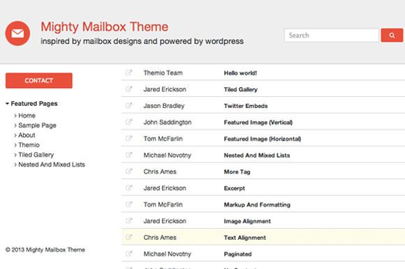 Mailbox Wordpress Theme
