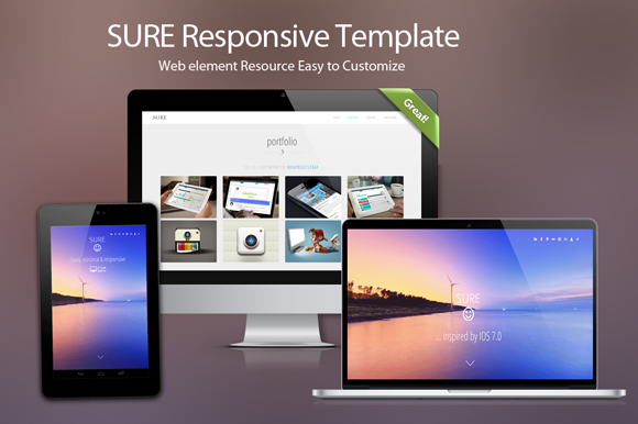 Sure : Responsive theme for startups ~ Website Templates  Free Download