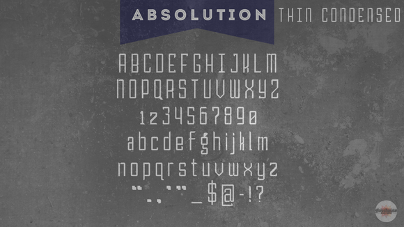 ABSOLUTION Thin Condensed