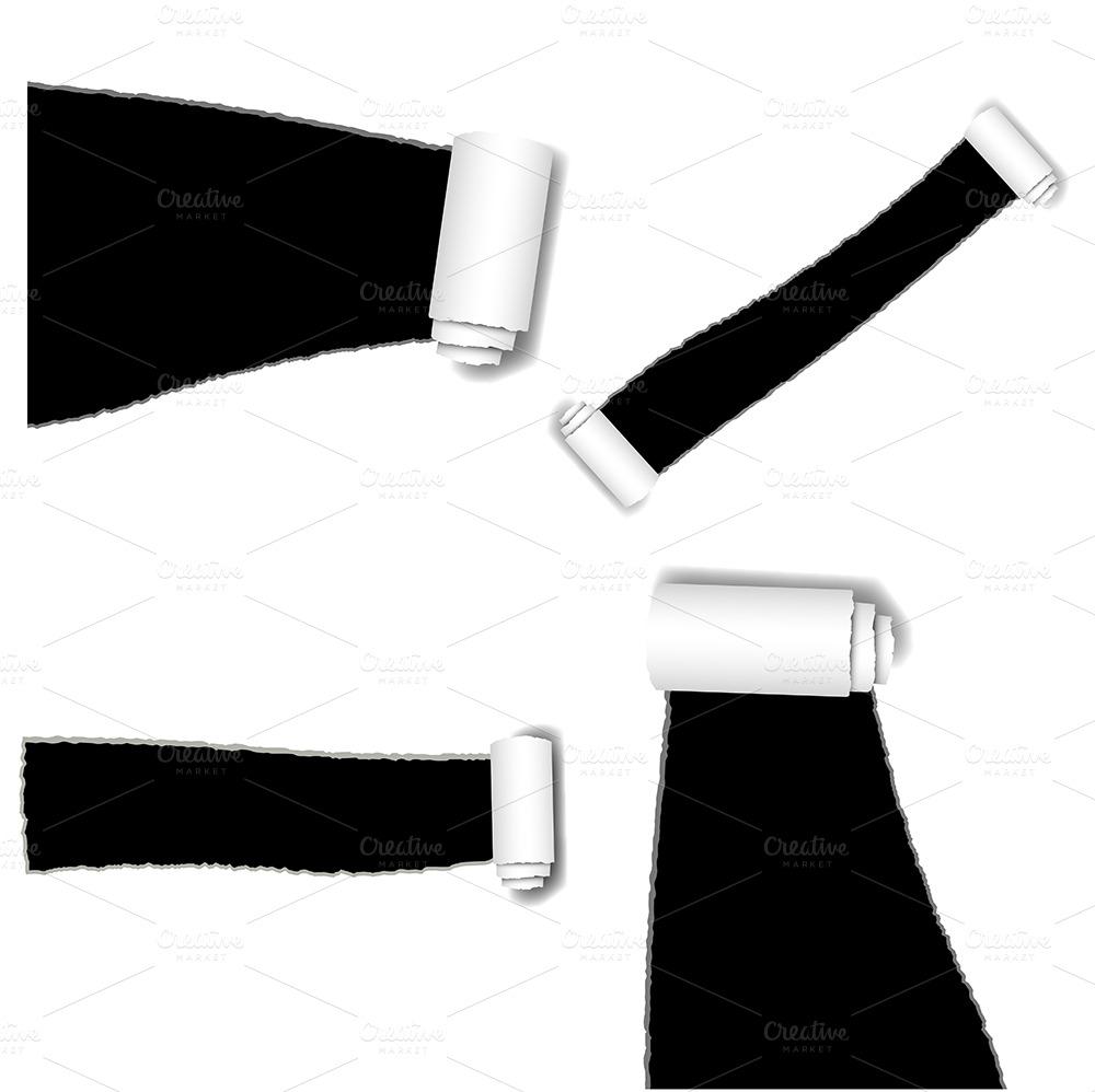 Torn Paper Vectors, PNG & Brushes