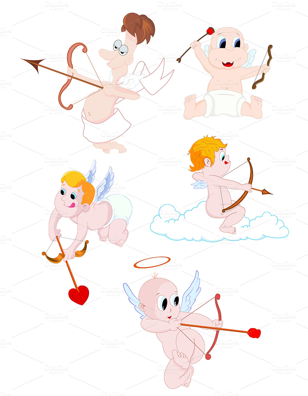 Cupids ~ Illustrations on Creative Market