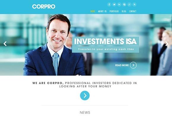 CorPro Corporate WordPress Theme ~ WordPress Themes  Free Download