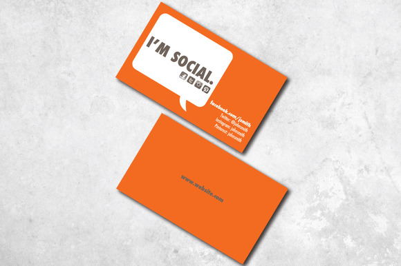 I m Social Business Card Business Card Templates on