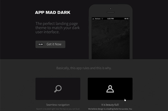 App Mad Dark Product PSD ~ Website Templates  Free Download