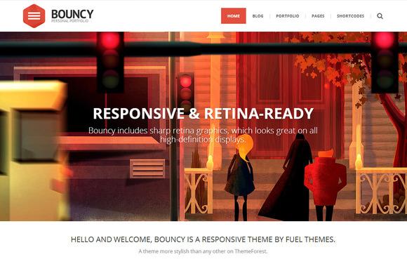 Bouncy – Responsive & Multi-Purpose ~ WordPress Themes  Free Download