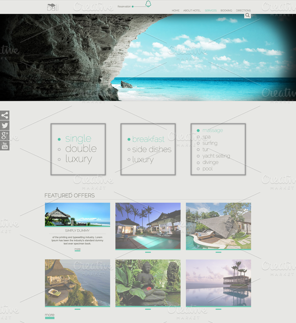 B2J Bali Template for Hotel/Agencies ~ Joomla Themes  Free Download