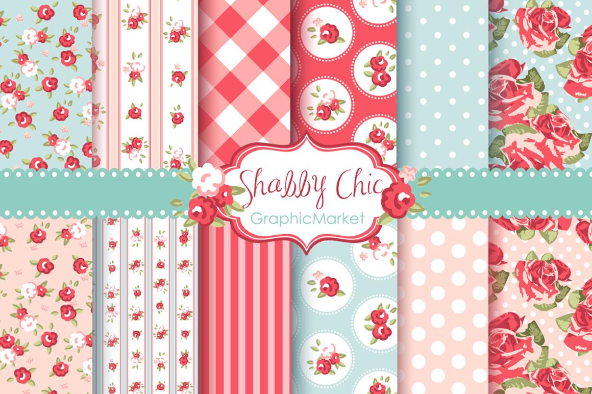 shabby chic rose digital paper pack patterns on creative market. Black Bedroom Furniture Sets. Home Design Ideas