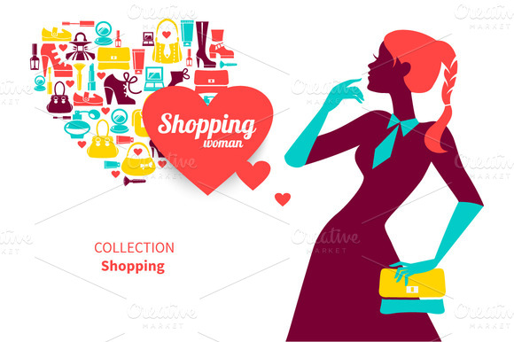 Set Of Shopping Illustrations