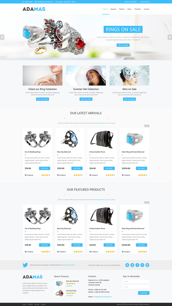 Adamas – Ecommerce PSD Template ~ Website Templates  Free Download