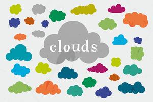30 Vector Cloud Shapes