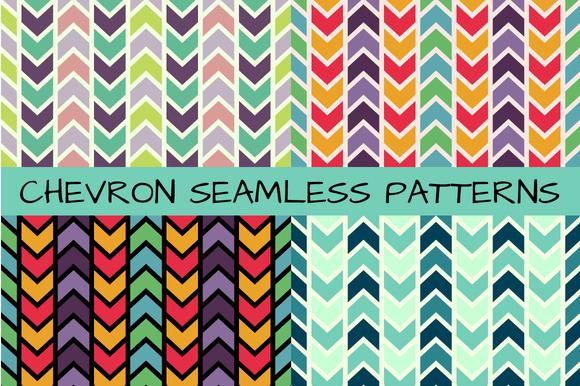 4 Chevron Seamless Patterns