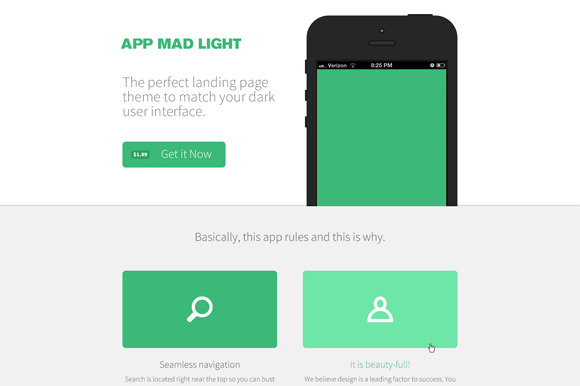 App Mad Light Product PSD ~ Website Templates  Free Download