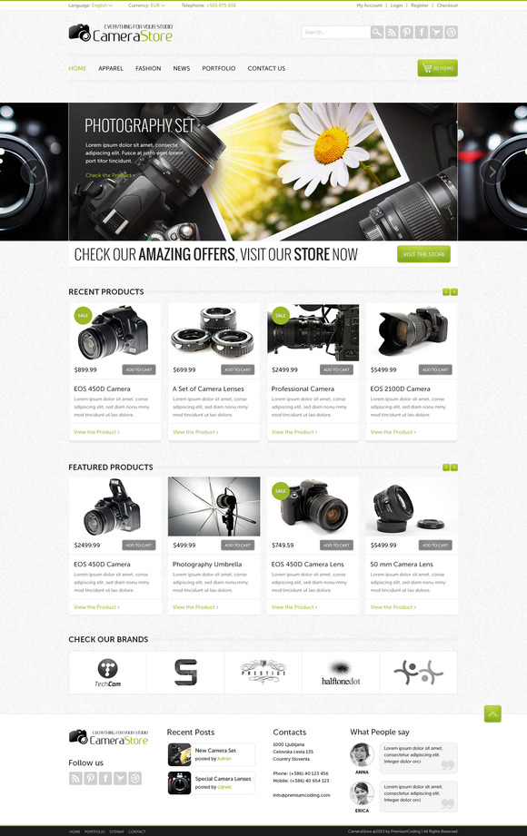 Camy – Ecommerce Website Template ~ Website Templates  Free Download