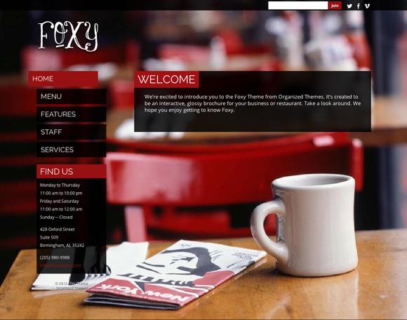 Foxy ~ WordPress Themes  Free Download