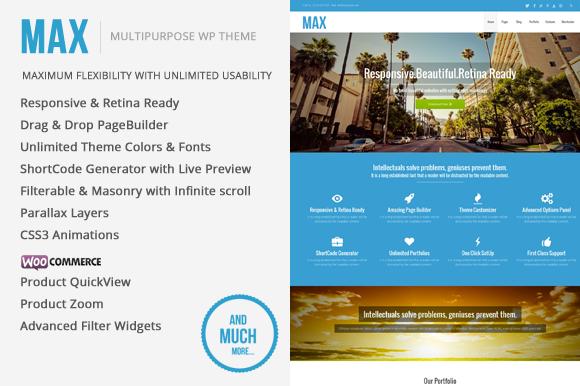Max MultiPurpose WordPress Theme ~ WordPress Themes  Free Download
