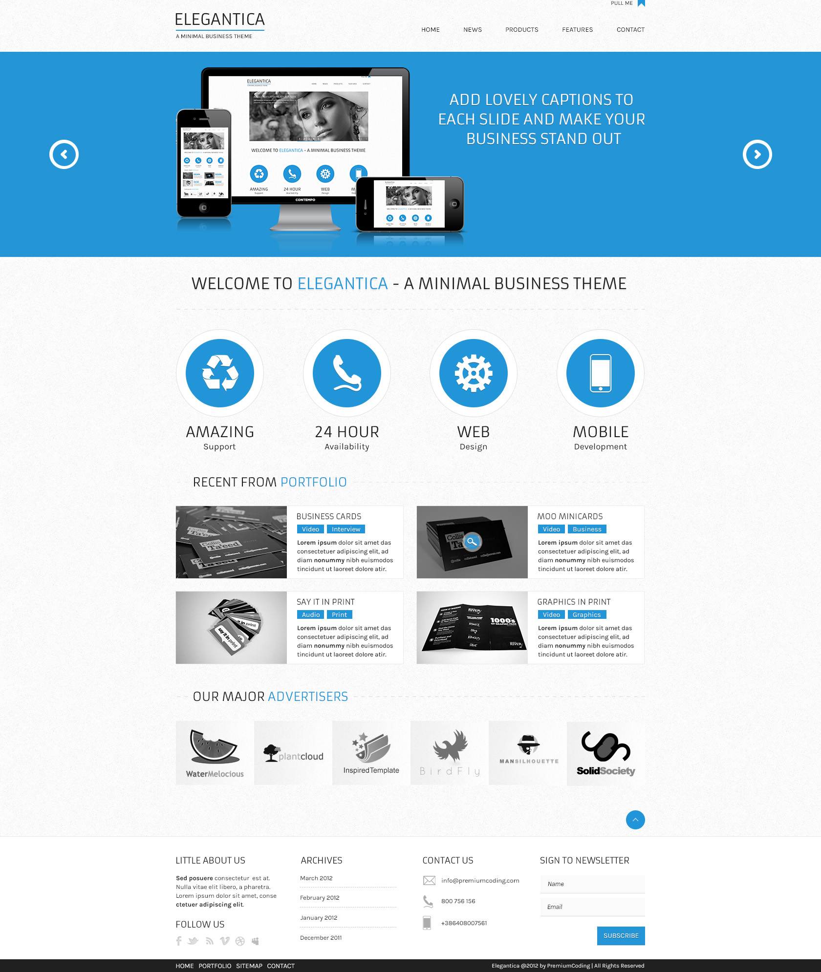 Website Psd Template In 3 Colors: Website Templates On