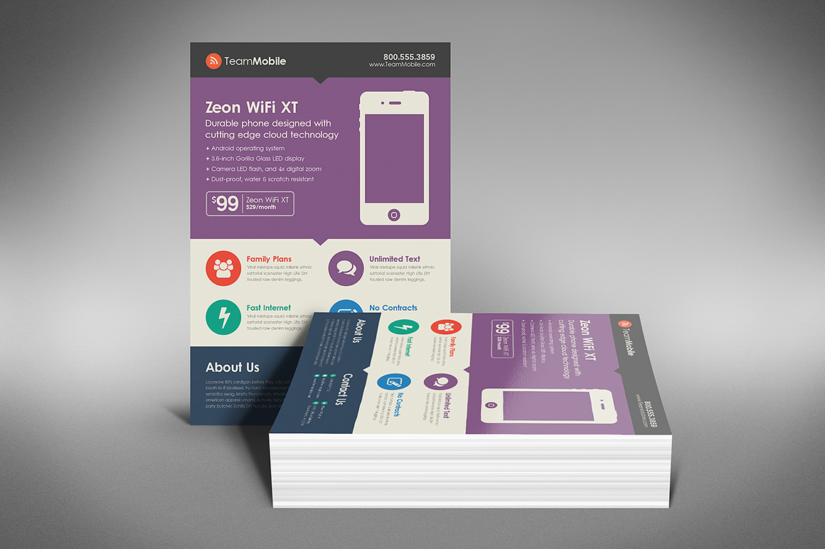 Flat Design Flyer Template ~ Flyer Templates on Creative ...