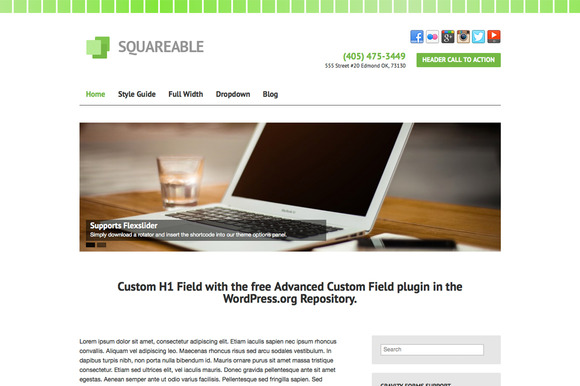 Squareable – Small Business Theme ~ WordPress Themes  Free Download