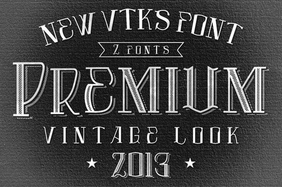 Premium Font By VTKS