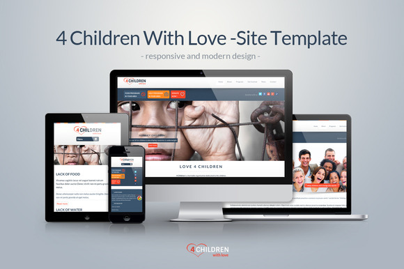 4 Children – Charity Clean Template ~ Website Templates  Free Download