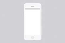 Minimal White iPhone 5 PSD Template
