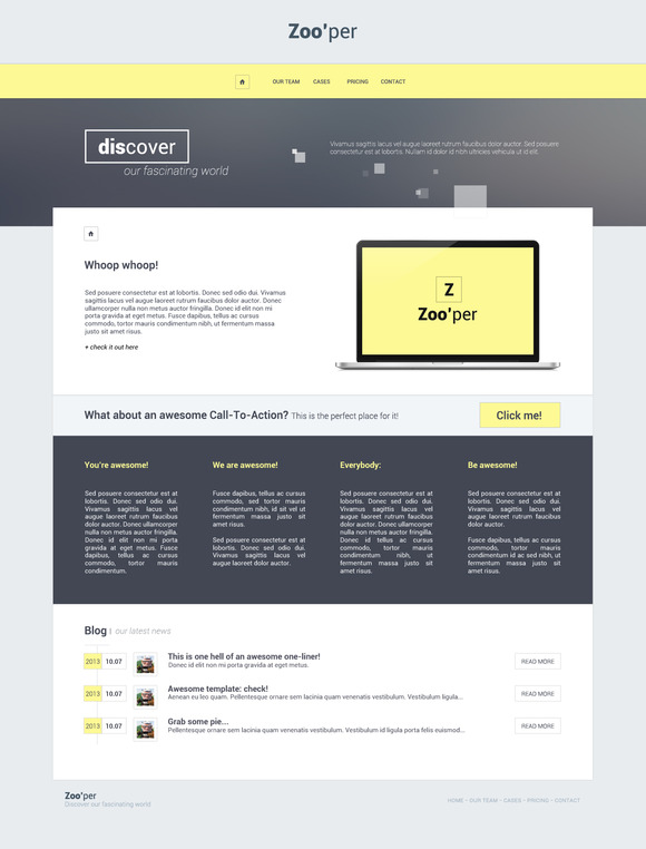 Zoo'per theme ~ Website Templates  Free Download