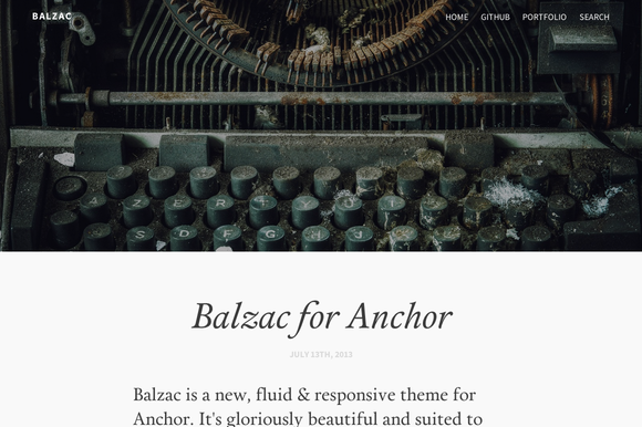 Balzac for AnchorCMS ~ Website Templates  Free Download