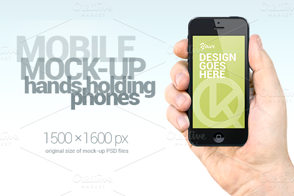 Mobile Mock Up Hands Holding Phones