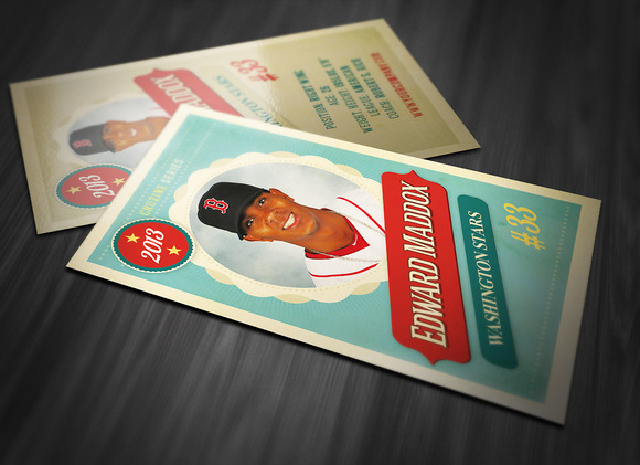Trading Card Templates Free Retro Trading Card Template