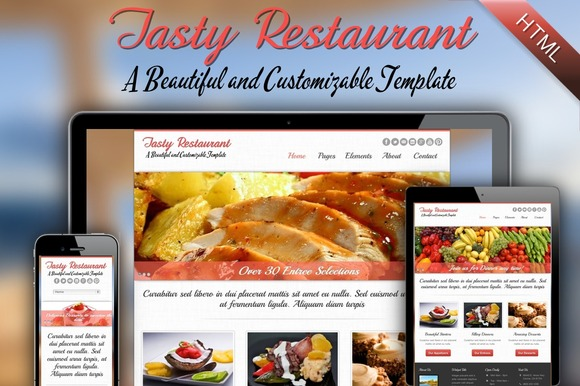 Tasty – A Responsive HTML Website ~ Website Templates  Free Download