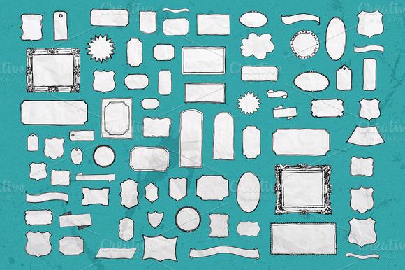 75 Sketch Vector Shapes