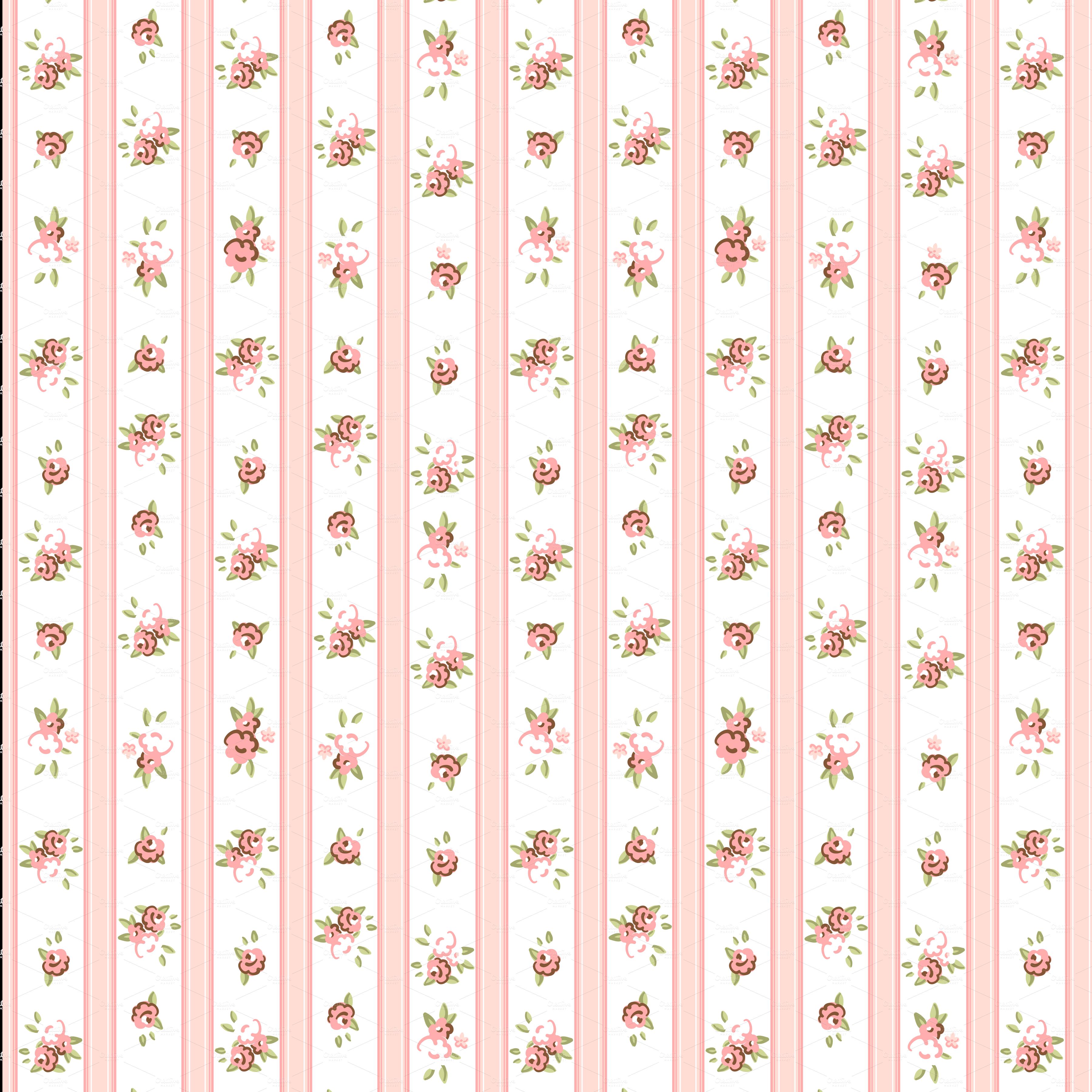 Shabby Chic Rose Digital Patterns ~ Patterns on Creative Market