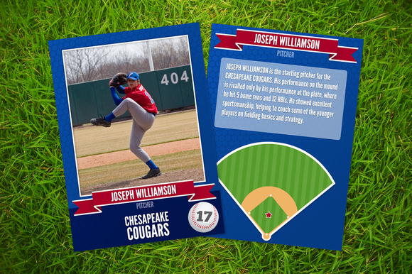 Ace baseball card template card templates on creative for Baseball card size template