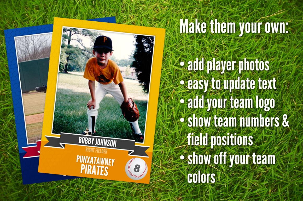 Ace: Baseball Card Template ~ Card Templates on Creative ...