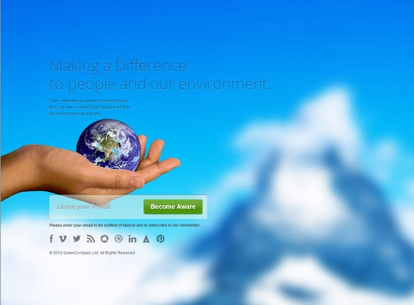 Global Warming Coming Soon Template ~ Website Templates  Free Download