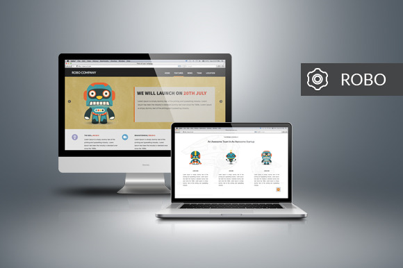 Robo – One Page App Landing Theme ~ Website Templates  Free Download