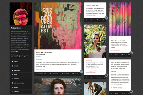 Halcyon ~ Tumblr Themes  Free Download