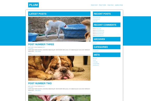 Plum ~ WordPress Themes  Free Download