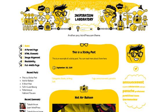 Inspiration Laboratory ~ WordPress Themes  Free Download