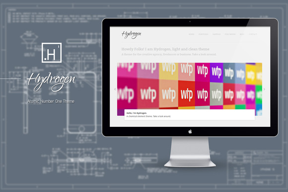 Hydrogen : Atomic Number One Theme ~ WordPress Themes  Free Download